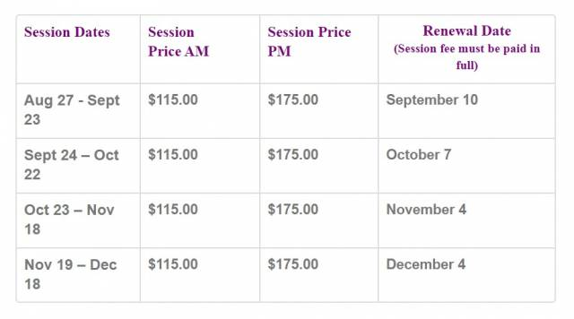 SessionPrices